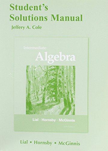 9780321715821: Student's Solutions Manual for Intermediate Algebra