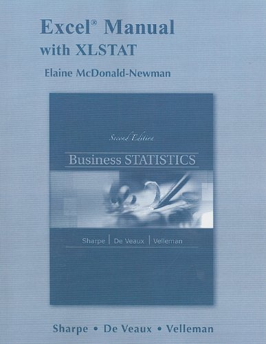 9780321716156: Excel Manual with XLSTAT: Business Statistics