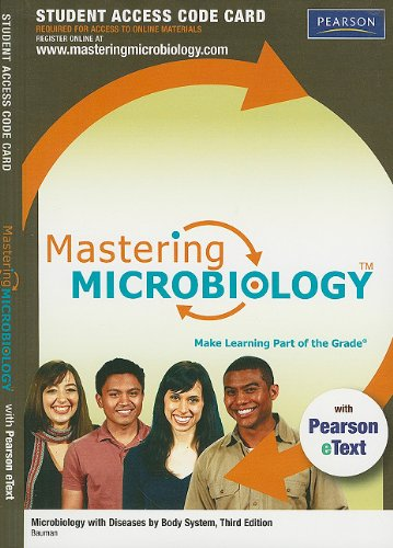 9780321716347: MasteringMicrobiology with Pearson eText -- Standalone Access Card -- for Microbiology with Diseases by Body System (3rd Edition)