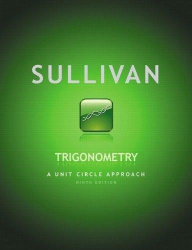 9780321716743: Annotated Instructors Edition Sullivan Trigonometry a Unit Circle Approach 9 Ed