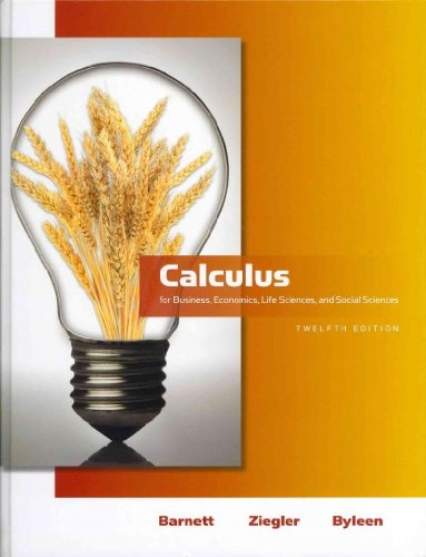 9780321716774: Calculus for Business, Economics, Life Sciences and Social Sciences with Additional Calculus Topics (12th Edition)