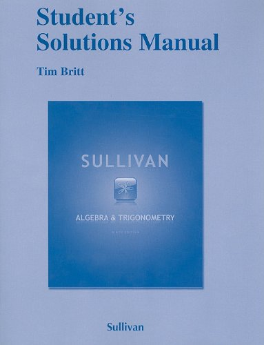 9780321717115: Student Solutions Manual for Algebra and Trigonometry