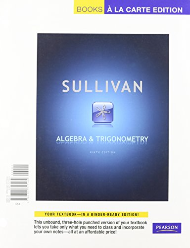 Algebra and Trigonometry, Books a la Carte: Sullivan, Michael