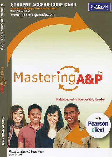 9780321717443: MasteringA&P with Pearson eText Student Access Code Card for Visual Anatomy & Physiology