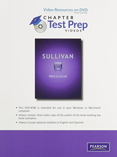 9780321717542: Videos on DVD with Chapter Test Prep for Precalculus