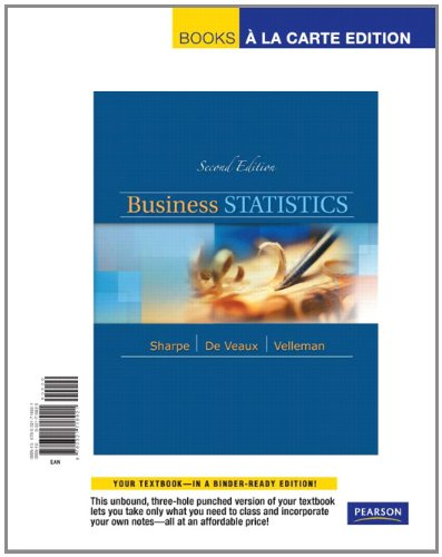 9780321718921: Business Statistics, Student Value Edition (2nd Edition)