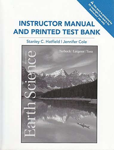 9780321720238: Earth Science 13th Edit (Instructor Manual & Test Bank)