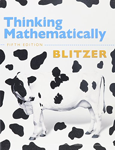 9780321720627: Thinking Mathematically, MyMathLab, and Student Solutions Manual (5th Edition)
