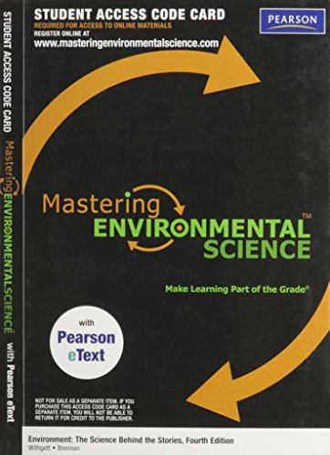 9780321721518: MasteringEnvironmentalScience with Pearson eText Student Access Code Card for Environment: The Science behind the Stories (ME component)