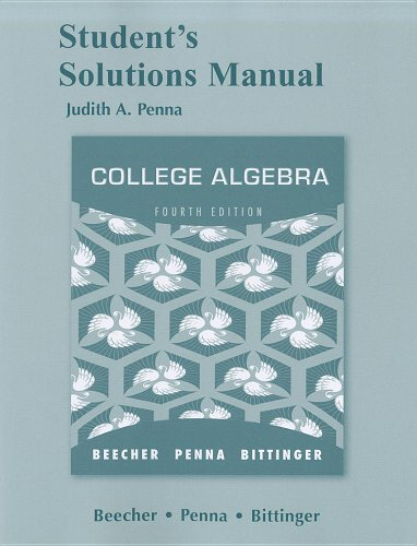 9780321724847: Student Solutions Manual for College Algebra