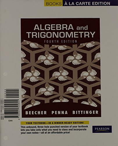 9780321725691: Algebra and Trigonometry, Books a la Carte Edition (4th Edition)