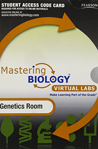 9780321726223: Mastering Biology without Pearson eText for - Virtual Lab Genetics Room - Standalone Access Card