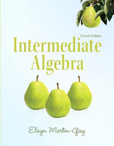 9780321726377: Intermediate Algebra (4th Edition) (Martin-Gay Developmental Math Series)