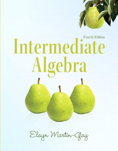 9780321726377: Intermediate Algebra (4th Edition) (Martin-Gay Developmental Math Series)