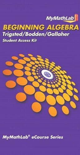 9780321726421: MyMathLab for Trigsted/Bodden/Gallaher Beginning Algebra -- Access Card
