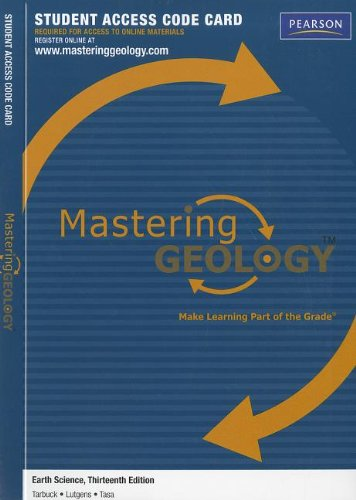 9780321727428: MasteringGeology -- Standalone Access Card -- for Earth Science (Mastering Geology (Access Codes))