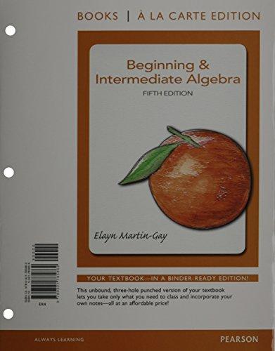 9780321729354: Beginning & Intermediate Algebra, Books a la Carte Edition Plus MyMathLab -- Access Card Package (5th Edition)