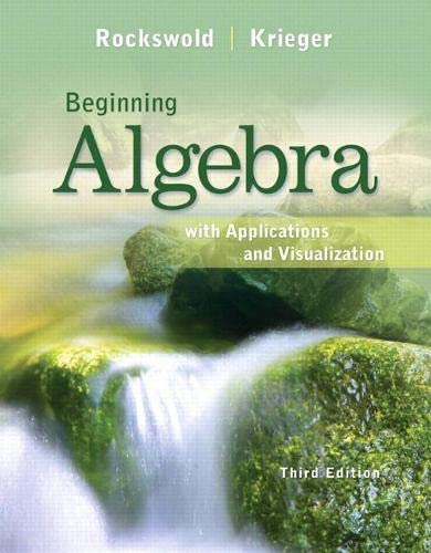 9780321729408: Beginning Algebra with Applications and Visualization Plus NEW MyMathLab with Pearson eText -- Access Card Package (3rd Edition)