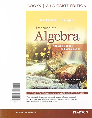 9780321729422: Intermediate Algebra with Applications & Visualization, Books a la Carte Edition Plus NEW MyMathLab with Pearson eText -- Access Card Package (4th Edition)