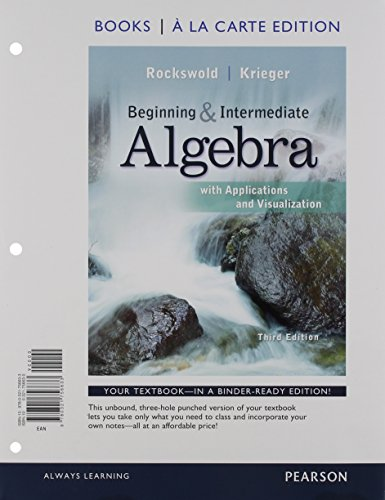 9780321729446: Beginning and Intermediate Algebra with Applications & Visualization, Books a la Carte Edition Plus NEW MyMathLab with Pearson eText -- Access Card Package (3rd Edition)
