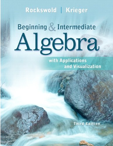 9780321729453: Beginning and Intermediate Algebra with Applications & Visualization Plus NEW MyMathLab with Pearson eText -- Access Card Package (3rd Edition)