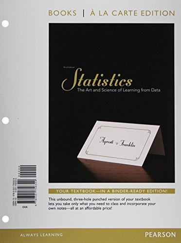 9780321729545: Statistics, Books a la Carte Edition plus NEW MyStatLab with Pearson eText-- Access Card Package (3rd Edition)