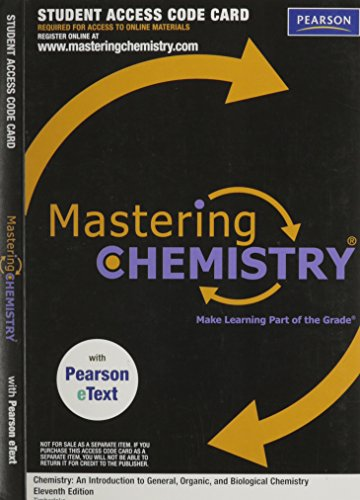 9780321729958: MasteringChemistry with Pearson eText -- Valuepack Access Card -- for Chemistry: An Introduction to General, Organic, and Bilogical Chemistry