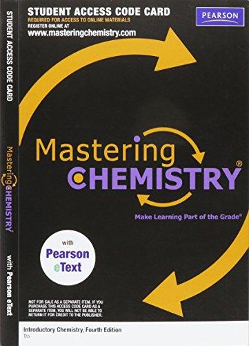 Mastering Chemistry Access Code: Tro, Nivaldo J.