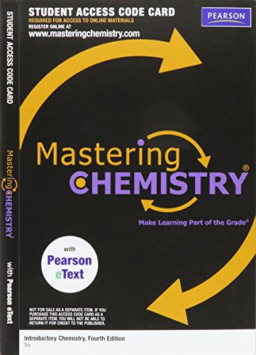 9780321730022: Mastering Chemistry with Pearson eText - Valuepack Access Card - for Introductory Chemistry (ME Component)