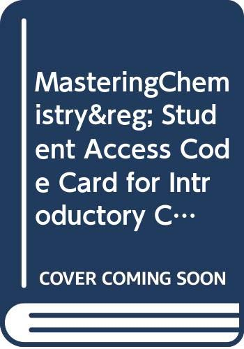 9780321730176: MasteringChemistry -- Standalone Access Card -- for Introductory Chemistry (MasteringChemistry (Access Codes))