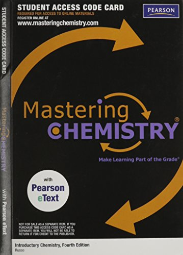 9780321730237: MasteringChemistry with Pearson EText Access Code Card for Introductory Chemistry (ME Component)