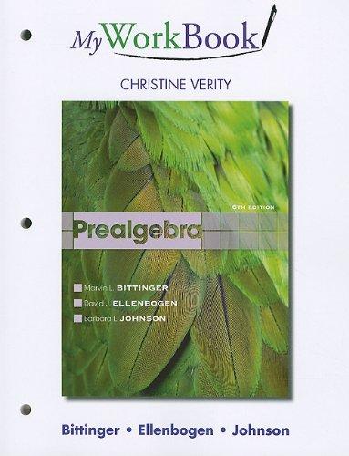 9780321731029: MyWorkBook for Prealgebra