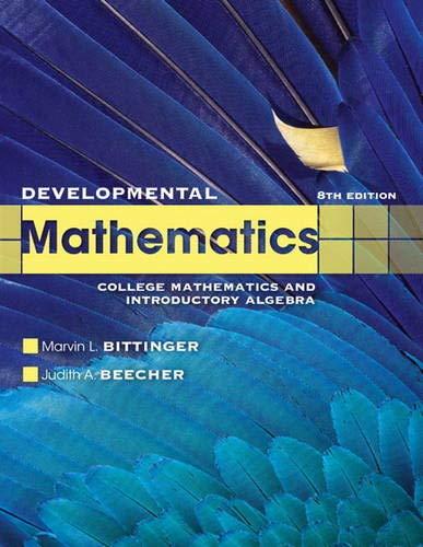 9780321731531: Developmental Mathematics (8th Edition)