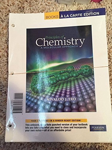 9780321732347: Principles of Chemistry: A Molecular Approach, Books a la Carte Edition