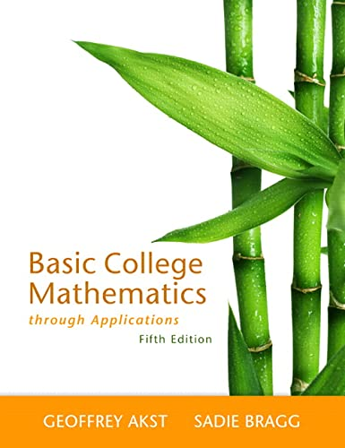 9780321733399: Basic College Mathematics through Applications (5th Edition)