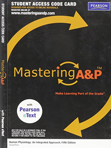 MasteringA&P with Pearson EText - Valuepack Access: Silverthorn, Dee Unglaub