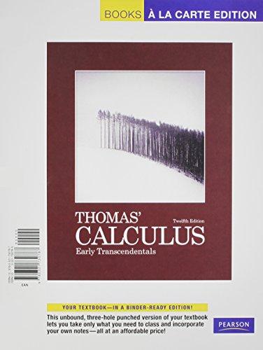 9780321735294: Thomas' Calculus: Early Transcendentals, Books a la Carte Plus MyMathLab/MyStatLab Student Access Kit (12th Edition)