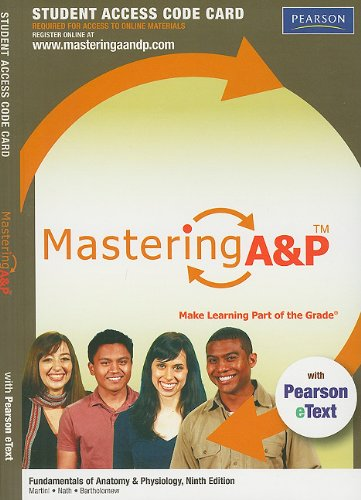 9780321737366: MasteringA&P with Pearson eText -- Standalone Access ...