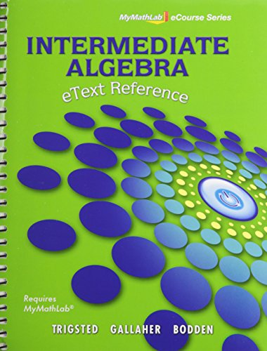 9780321738257: MyMathLab and eText Reference (Mymathlab Ecourse Series)