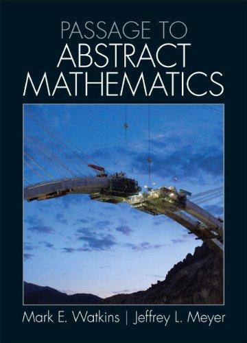 9780321738639: Passage to Abstract Mathematics: United States Edition