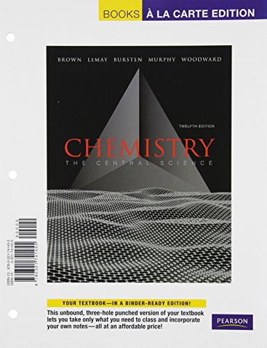 9780321741455: Books A la Carte for Chemistry: The Central Science (12th Edition)
