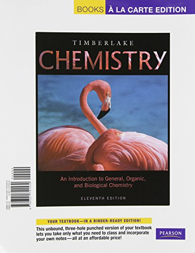 9780321741530: Chemistry: An Introduction to General, Organic, and Biological Chemistry, Books a la Carte Edition (11th Edition)