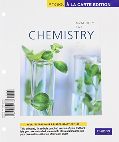 9780321741608: Books a la Carte for Chemistry (6th Edition)