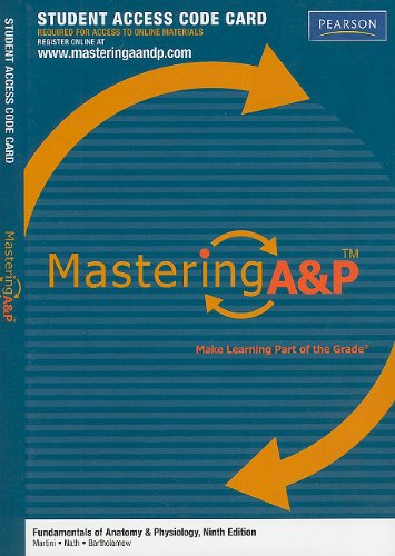 9780321741714: Mastering A&p: Student Access Code Card for Fundamentals of Anatomy & Physiology