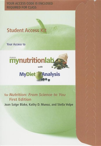 9780321742377: MyNutritionLab Student Access Code Card for Nutrition: From Science to You (Mynutritionlab (Access Codes))