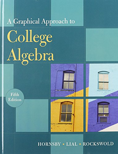 9780321743190: A Graphical Approach to College Algebra, 5th Edition