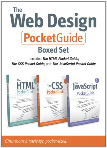 9780321743749: The Web Design Pocket Guide Boxed Set (Includes The HTML Pocket Guide, The JavaScript Pocket Guide, and The CSS Pocket Guide) (Peachpit Pocket Guide)