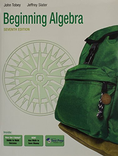 Beginning Algebra Plus MyMathLab/MyStatLab Student Access Code Card (7th Edition): Tobey Jr., ...