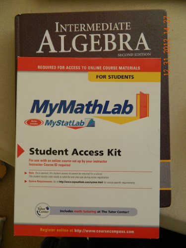 9780321746207: Intermediate Algebra Plus MyMathLab/MyStatLab Student Access Code Card (2nd Edition)