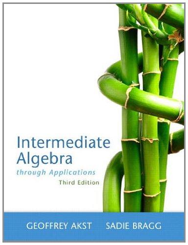 9780321746719: Intermediate Algebra Through Applications (3rd Edition)